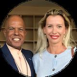 Monica Ion cu Michael Beckwith