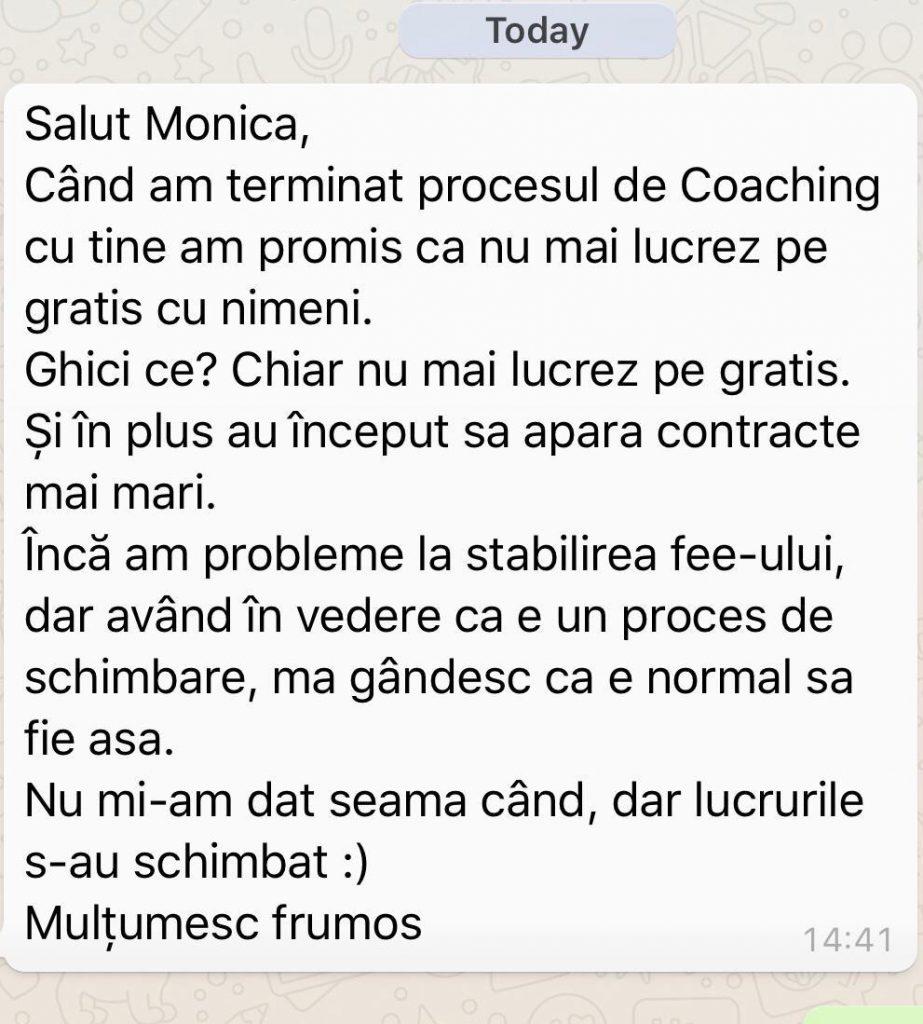 testimonial coaching Monica Ion